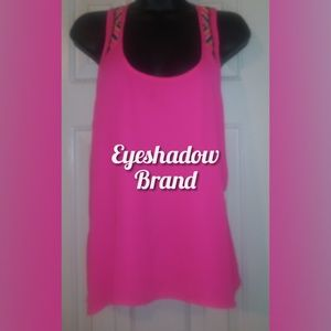 Beautiful Sleeveless Hot Pink Tee w/Stylish Stitch